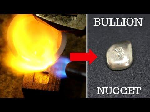 MAKING GOLD BULLION FROM SCRAP GOLD