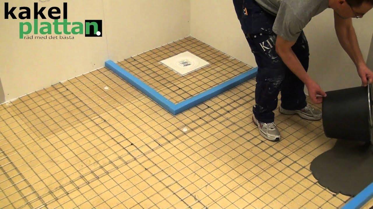 Dax för flytspackling av badrummet. hälla ut flytspackel. mer på ...