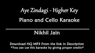 Aye Zindagi - Sonu Nigam | Higher Key | KARAOKE