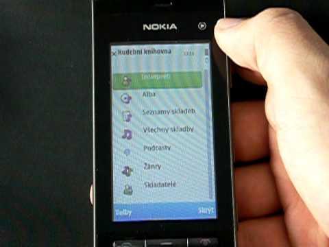 Nokia 5250 - hudební přehrávač
