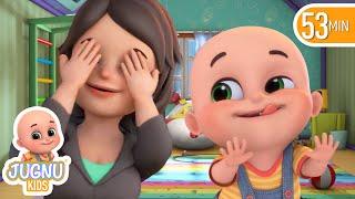 Peek a Boo Song, abc | +More Nursery Rhymes & Kids Songs - Jugnu kids