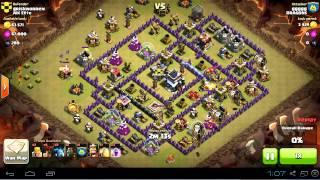 lava hound didn't pop, got 99% TH9 vs TH9 | lavaloonion | clan wars | clash of clans
