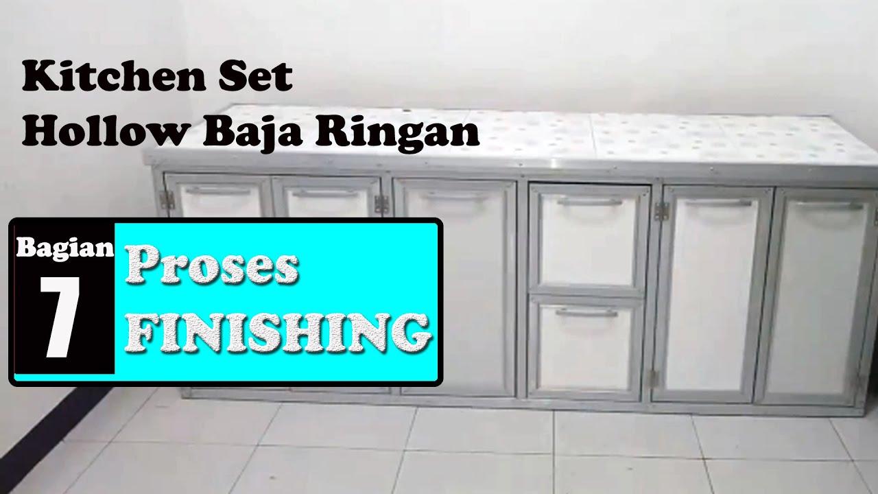 Kitchen Set Hollow Baja Ringan 7 Finishing Youtube
