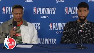 Russell Westbrook dismisses questions after Game 4 loss | 2019 NBA Playoffs