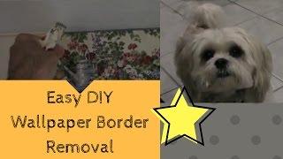 Easy DIY Wallpaper Border Removal