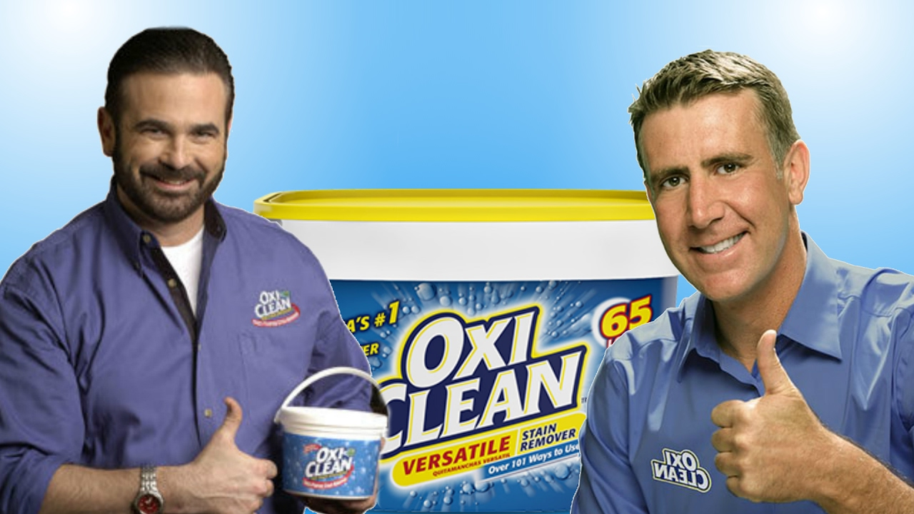 OxiClean is a line of household cleaners, including OxiClean Versatile Stain Remover, which is a laundry additive, spot stain remover, and household cleaner marketed by Church & Dwight. It was owned by Orange Glo International until History. When it was introduced, it was marketed through infomercials with Billy Mays in the U.S. and Canada as a