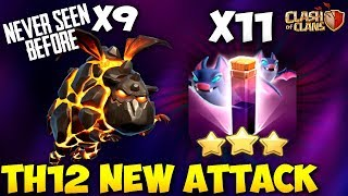 9 LAVA HOUND + 11 BAT SPELL: NEW TH12 BEST WAR ATTACK STRATEGY 2018 | Clash of clans