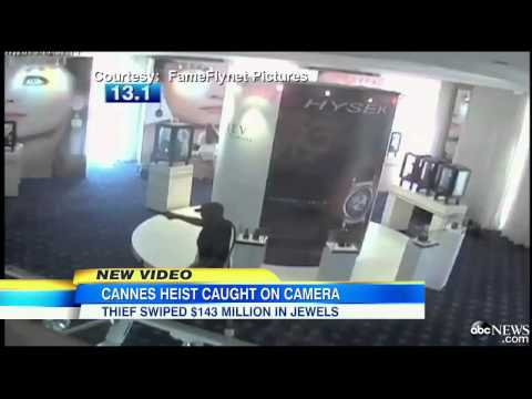 Cannes Jewelry Heist Surveillance Video Released