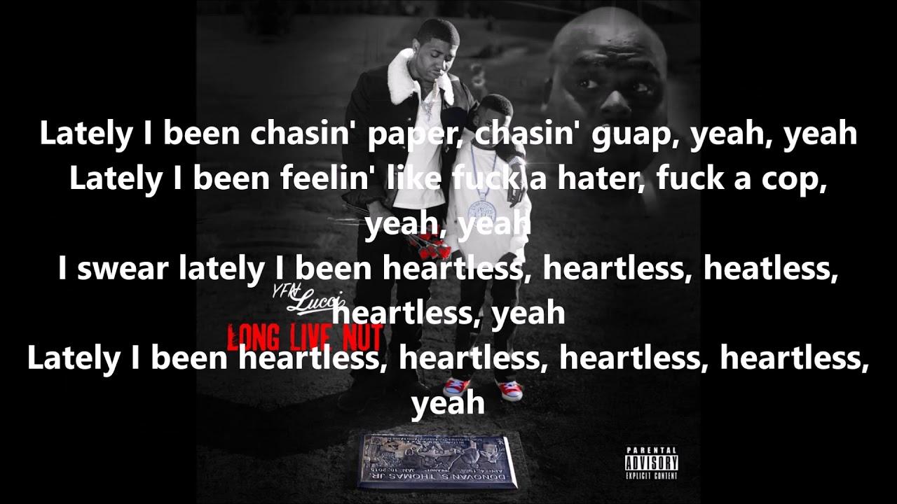 YFN Lucci - Heartless Lyrics - YouTube