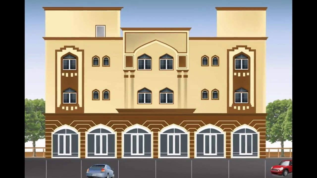 Beautiful Building Design Part - 3: Building Design | Commercial Building Design - YouTube