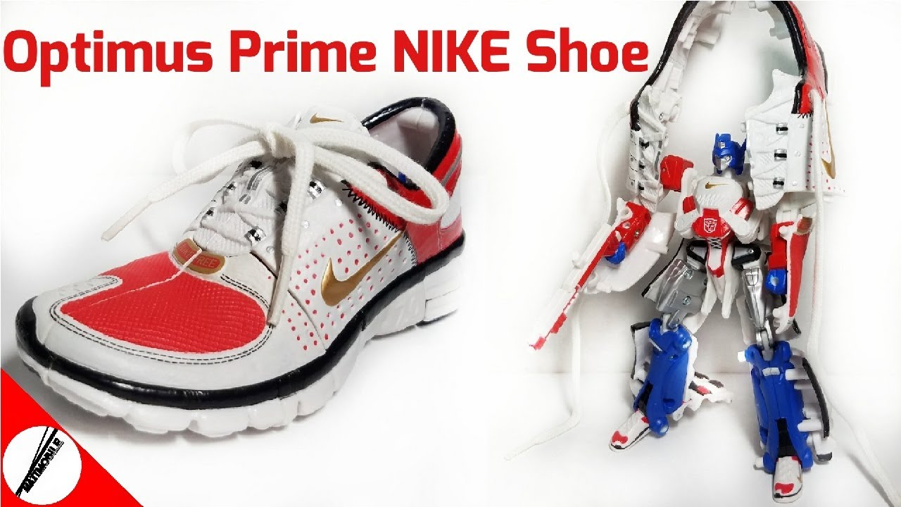 9d862dc9fce77 Transformers Sports Label Convoy NIKE Free 7.0 ( Optimus Prime Transforming  Shoe ) Review