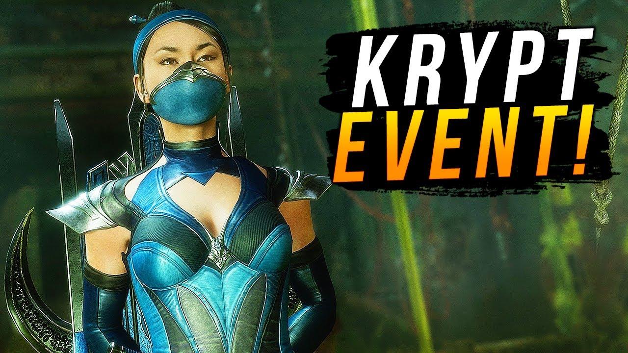 """Mortal Kombat 11 - NEW Krypt Event for Kitana w/ Rare """"Edenian Blue"""" Skin RETURNS! (Krypt Event #3)"""