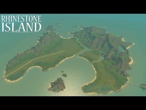Rhinestone Island - Cities: Skylines Custom Map Speed Build