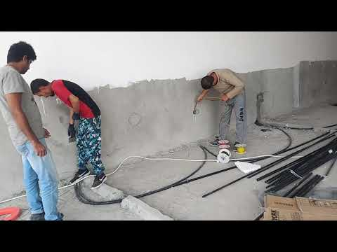 Electrical work wire pulling video