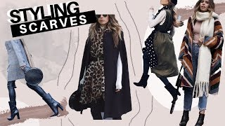 HOW TO STYLE WINTER SCARVES + Look Book