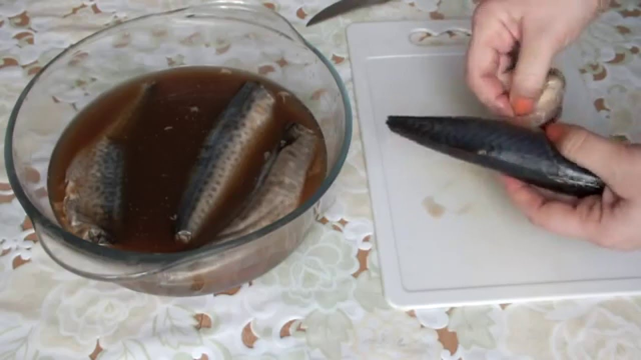 Рецепт как замариновать скумбрию в домашних условиях вкусно