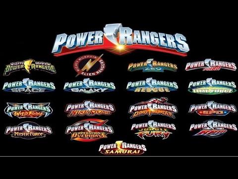Todas as aberturas dos Power Rangers 1993 2016