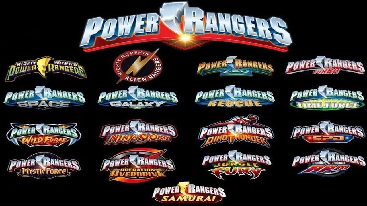 Todas As Aberturas Dos Power Rangers 1993 2016 Youtube