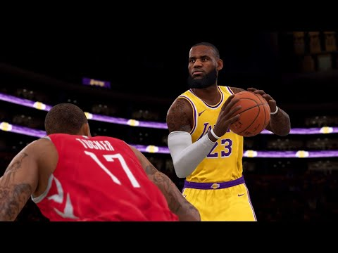 NBA LIVE 19 New Patch 1.10 - Houston Rockets vs Los Angeles Lakers - Full Game - PS4 PRO - HD