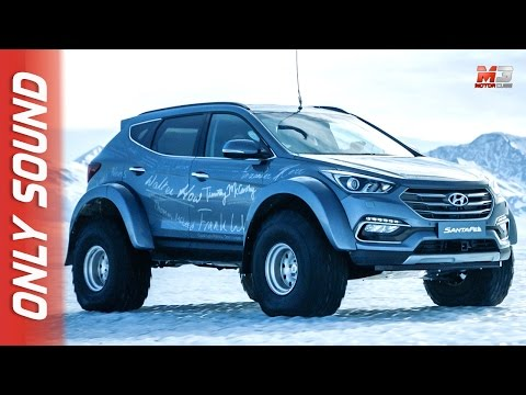 NEW HYUNDAI SANTA FE 2017 - FIRST SNOW TEST DRIVE ONLY SOUND