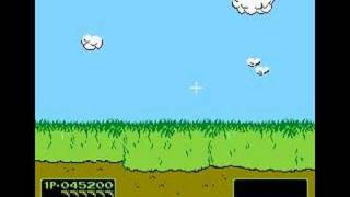 Shooting the Dog in VS. Duck Hunt!