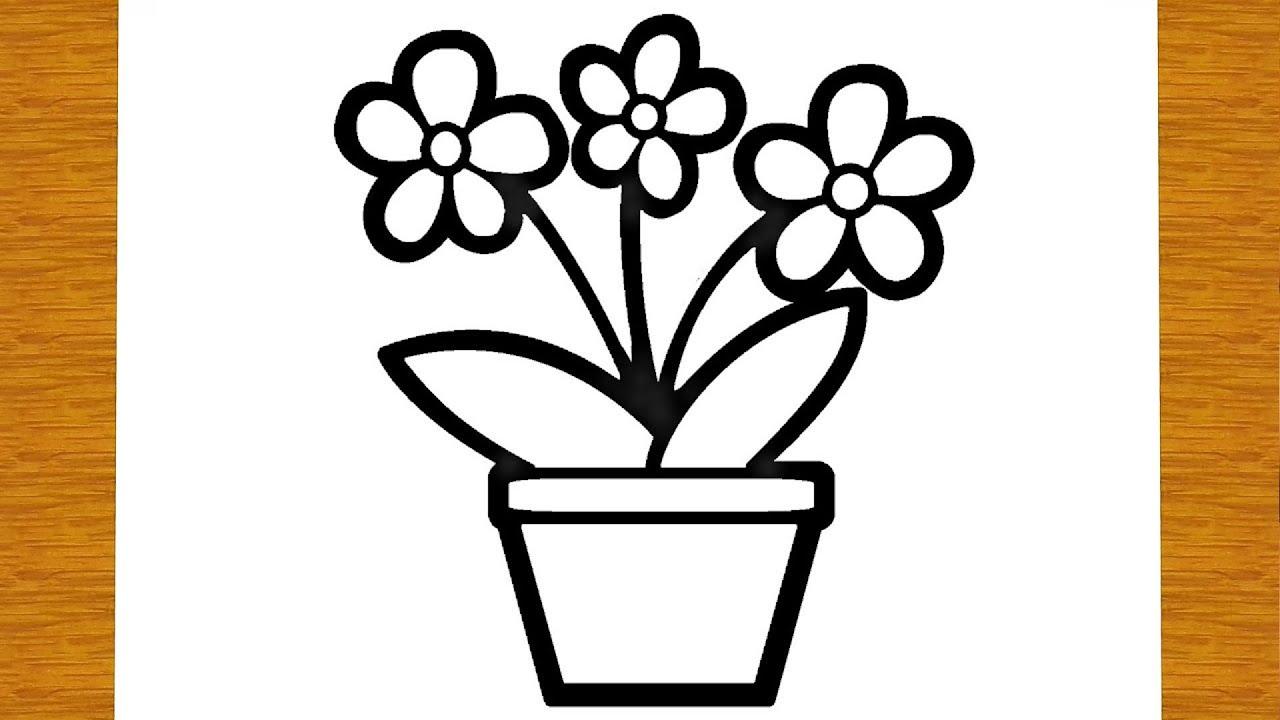Come Disegnare E Colorare Un Vaso Di Fiori Disegni Facili Ed Educativi Per Bambini Youtube
