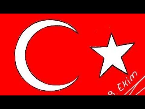 Nasil Cizilir 29 Ekim Cumhuriyet Bayrami Ozel Turk Bayragi