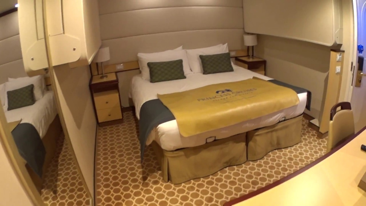 Regal princess inside stateroom tour in 1080p youtube for Princess cruise interior cabin