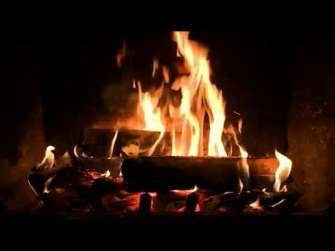 Crackling Fireplace with Relaxing Piano Music (HD)