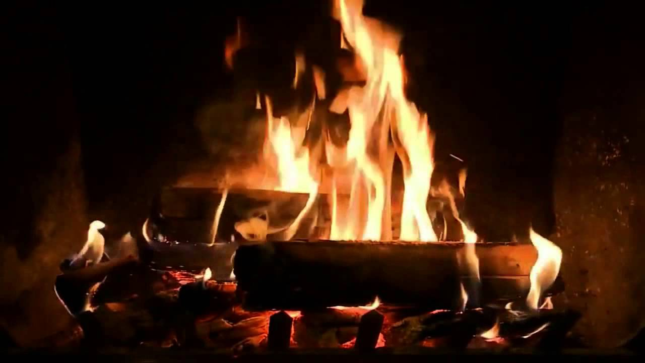 crackling fireplace with relaxing piano music hd youtube