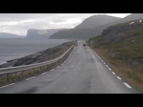 On the road to Nordkapp from Lakselv, Norway