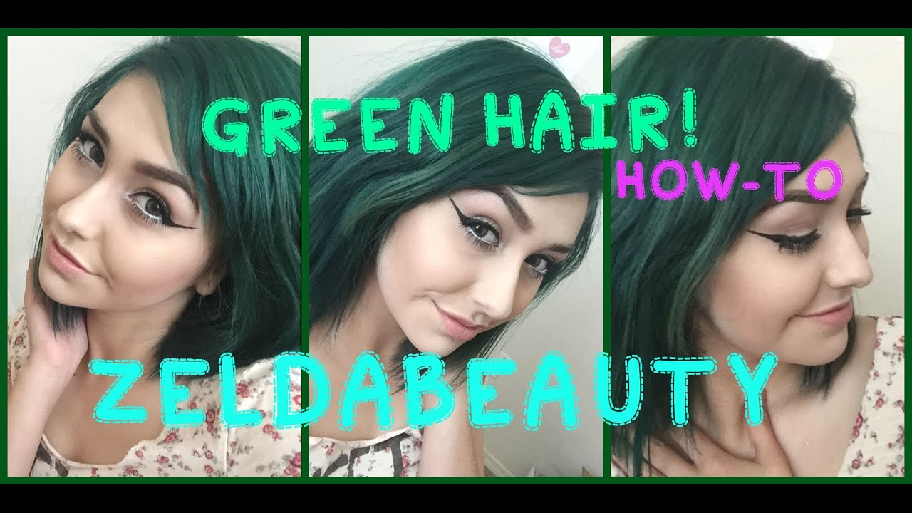 Green Hair How To ZeldaBeauty YouTube