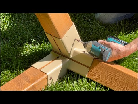 The Best Brackets to Build Your Wooden Swing Set. 4x4 A-Frame Structure Brackets for Your Play Set.