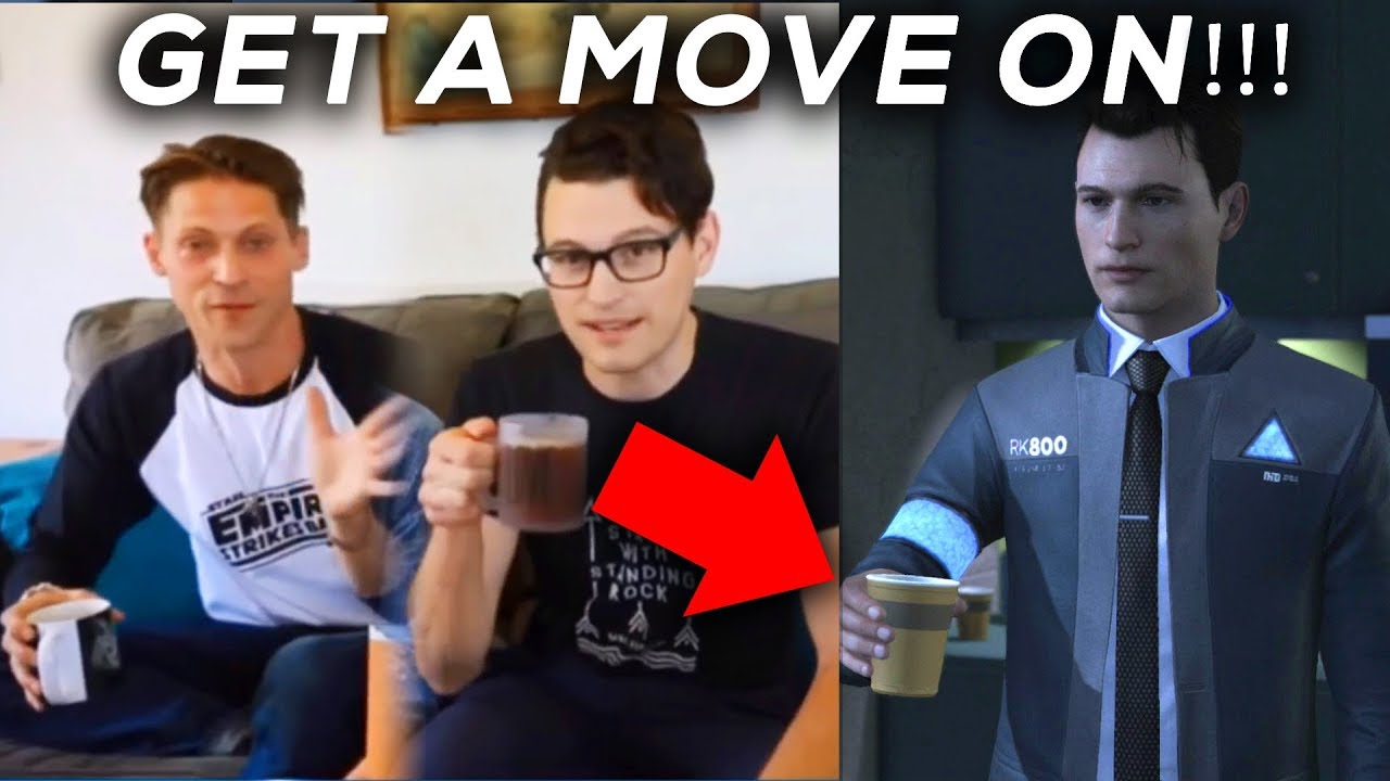 Connor Serves Gavin in Real Life And    (Bryan Dechart and Neil Newbon) -  DETROIT BECOME HUMAN
