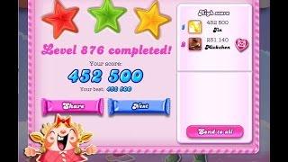 Candy Crush Saga Level 876     ★★★   NO BOOSTER