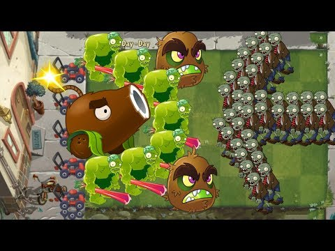 Plants vs Zombies 2 - Zoybean Pod and Coconut Cannon
