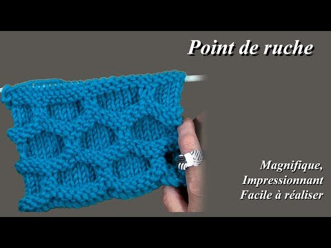 D.I.Y TUTO TRICOT APPRENDRE A TRICOTER LE POINT NID D  ABEILLE POINT ... 9fcbf59f99f