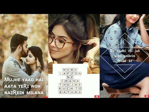 Tu Chalti Thi Jab  Aise Palkein Jhuka Ke  || 👉TIK TOK👈 || Full Screen What's App Status