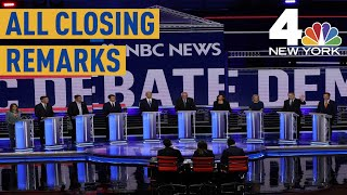 Democratic Debate: See Every Night 2 Candidate's Closing Remarks | NBC New York