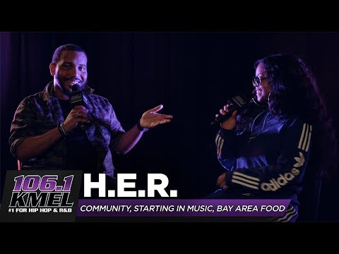 DC - H.E.R. Drops In To The KMEL Studio Fresh Off Her Coachella Performance!