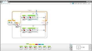 how to make a simple line following program in ev3