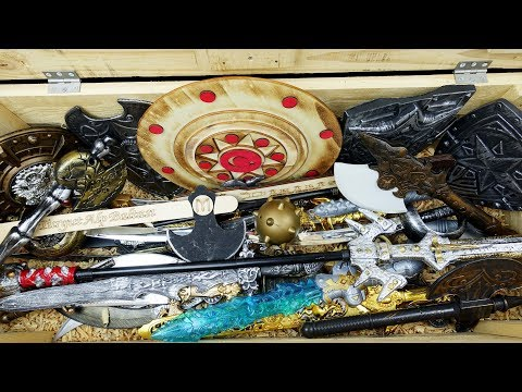Medieval Toy Sword And Shield Chest! Vikings Toy Swords And Toy Axe