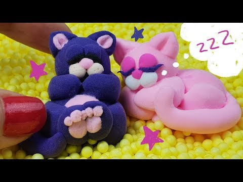 Лепим милых сонных котят из воздушного пластилина?? - Видео онлайн