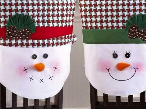 Decoraci n navide a para sillas de comedor youtube - Adornos navidenos para sillas ...
