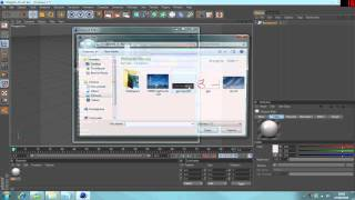 Cinema 4D Tutorial   Adding Images to Background [HD]