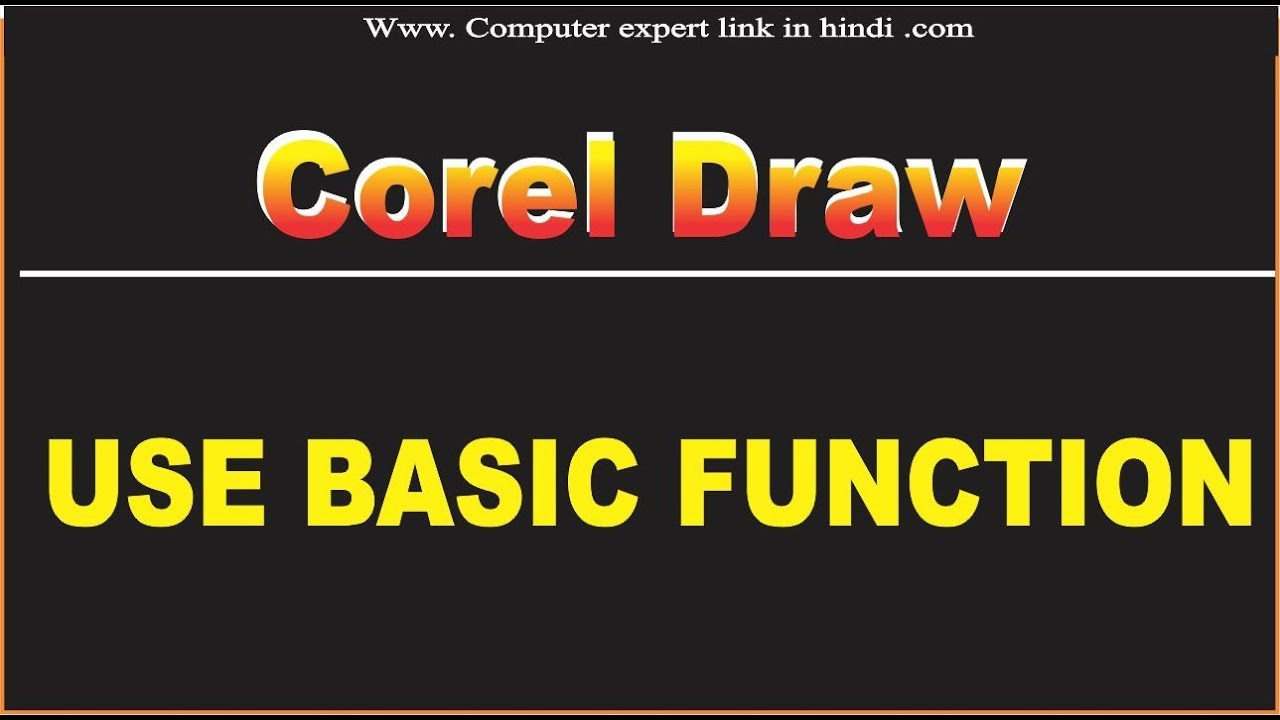 Corel Draw Ke Kuch Basic Function L Corel Draw Tutorial In Hindi