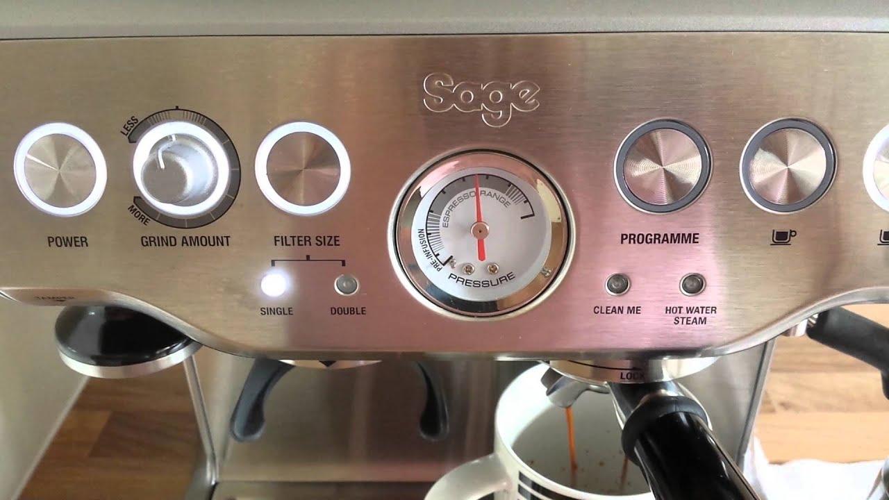 espresso machine pull