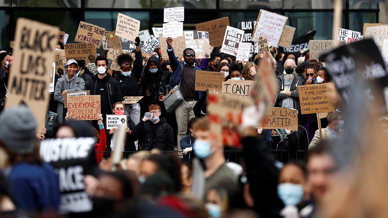 Thousands turn out for Black Lives Matter demonstration in Birmingham in Uk
