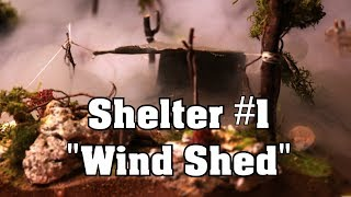 Shelter 1 wind shed Experiment -  überdachter Windschutz