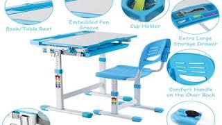 The GOPLUS Adjustable Children's Desk Chair Set